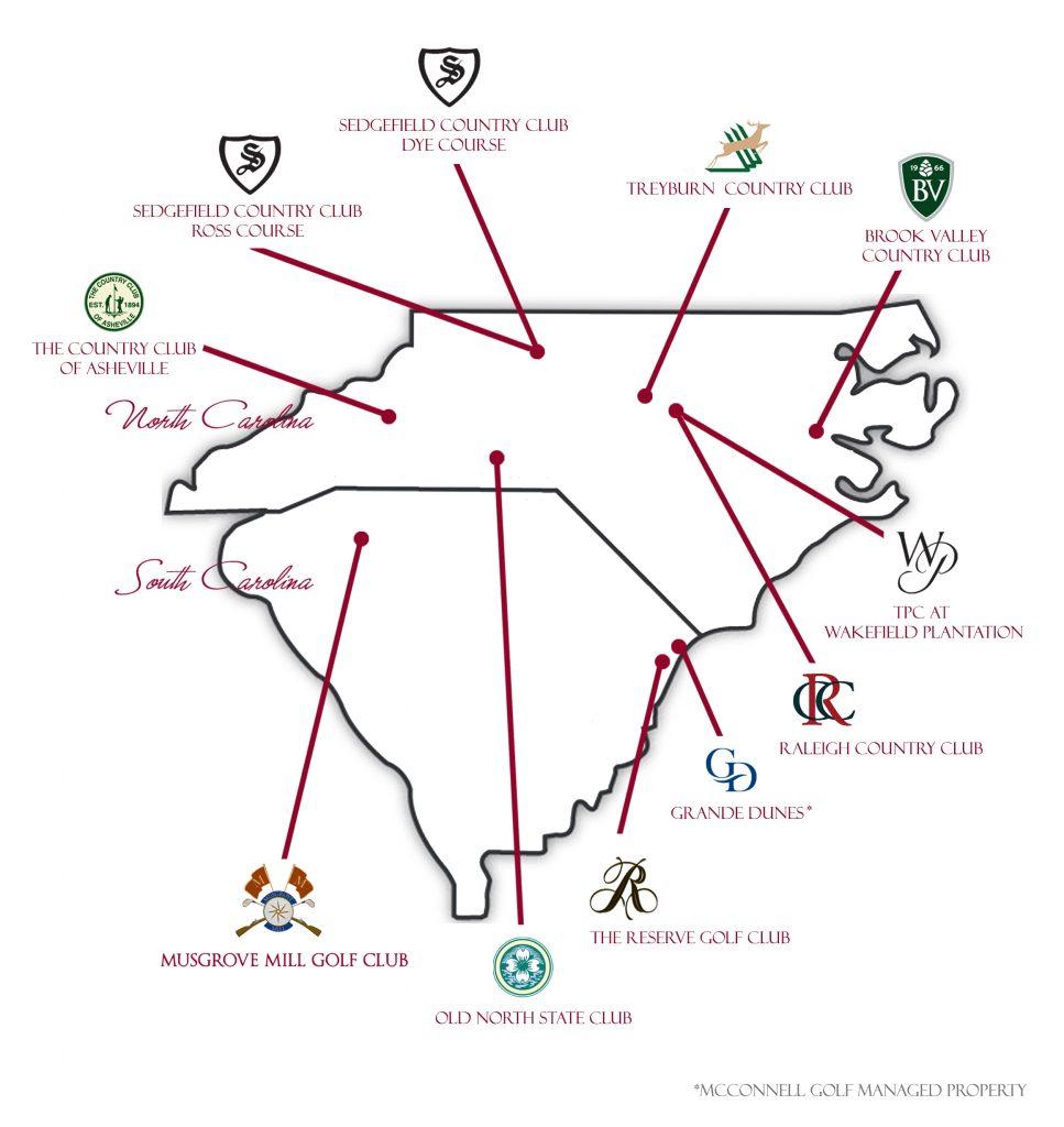 McConnell Golf Multi-Membership Map